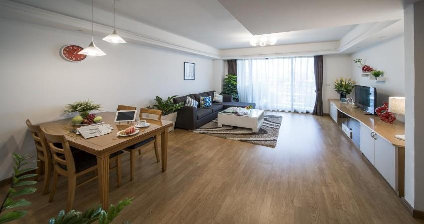 Khu vực phòng khách + phòng ăn